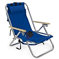 Backpack Beach Chair Folding Portable Blue Solid Construction Camping  from Best Choice Products