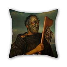 Pillow Shams Of Oil Painting Gottfried Lindauer - Tamati Waka Nene For Bar Christmas Club Bar Seat Deck Chair Father 16 X 16 Inches / 40 By 40 Cm(2 Sides)