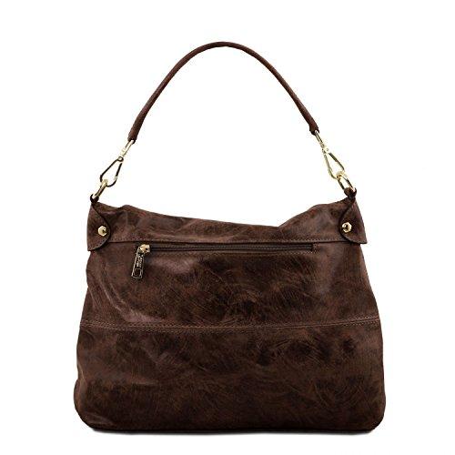 invecchiato Moro Di di in Bag Leather Moro Tuscany Testa Testa pelle TL Borsa a mano effetto wFT7z
