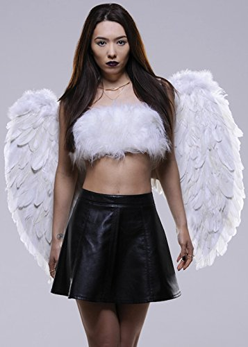 White Large Fancy Dress Feather Angel Wings by BOLAND BV (Large White Feather Angel Wings)