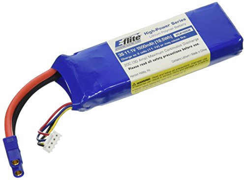 E-flite 1500mAh 3S 11.1V 20C LiPo, 13AWG: EC3, EFLB15003S
