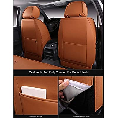 OASIS AUTO 2012-2016 CRV Custom Fit PU Leather Seat Cover Compatible with 2012-2013-2014-2015-2016 Honda CR-V (2012-2016 CRV, Orange): Automotive