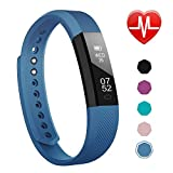 LETSCOM Fitness Tracker, Activity Tracker Watch with Heart Rate Monitor, Slim Touch Screen and Wristbands, Wearable Waterproof Step Tracker Pedometer Watch for Kids Women and Men