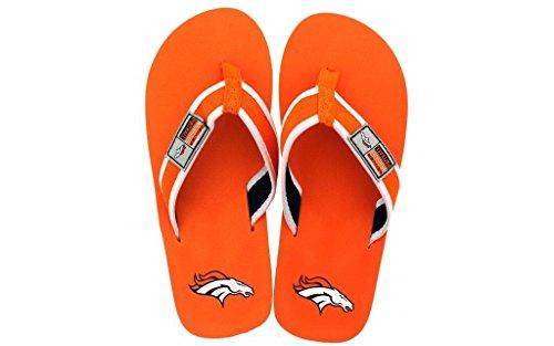 Forever Collectibles Sous Licence Officielle Tongs Nfl Contour - Pieds Heureux Et Pieds Confortables Denver Broncos