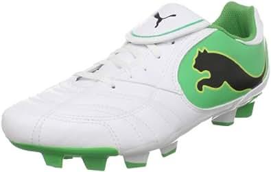 PUMA Men's Powercat 4.10 II FG Soccer Cleat,White/Black/Island Green/Limeade,7 D US