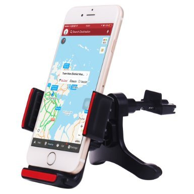 Car Mount, Patekfly Universal Phone Holder Kit Air Vent Car Mount Cradle for iPhone 6, 6 Plus, 5S, Galaxy S6, S6 Edge, S5 and other Smartphones