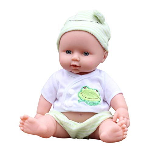 Hot Sale! Sunfei Baby Emulated Doll Soft Children Reborn Baby Doll Toys Boy Girl Birthday Christmas Gift (Green)