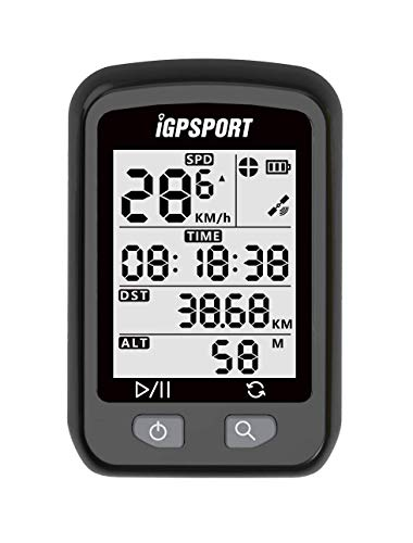 Waterproof GPS Wireless Cycling Bike Computer iGS20E, GPS & Barometric Altimeter for SPD, AV SPD, MX SPD, DST, ODO,ALT,TEM,TIME, Trip TIME, Date