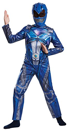 UHC Boy's Classic Blue Power Ranger Outfit Funny Theme Child Halloween Costume, Child M (7-8) for $<!--$30.95-->