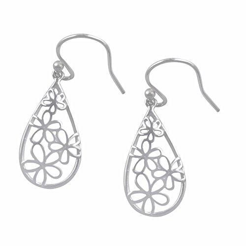 - Sterling Silver BoHo Daisy Flower Dangle Earrings