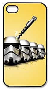 LZHCASE Personalized Protective Case for iphone 4/4s - Sci Fi Star Wars Funny Yellow 3D