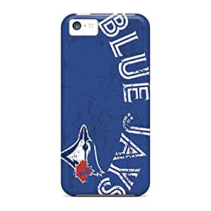 Durable Hard Phone Cases For Iphone 5c With Support Your Personal Customized Vivid Toronto Blue Jays Skin JonBradica