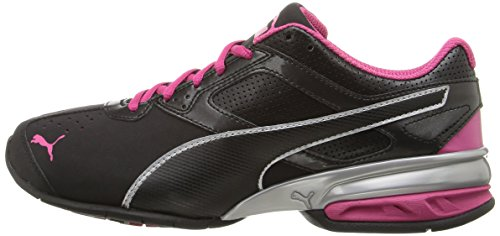 PUMA Women's Tazon 6 WN's fm Cross-Trainer Shoe, Black Silver/Beetroot Purple, 5.5 M US