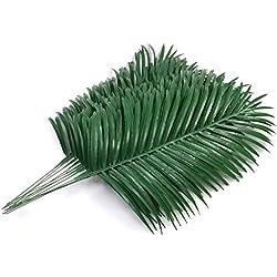 SLanC 12 Pack Artificial Palm Plants Leaves Faux Fake Tropical Large Palm Tree Leaves Imitation Leaf Artificial Plants for Home Kitchen Party Flowers Arrangement Wedding Decorations
