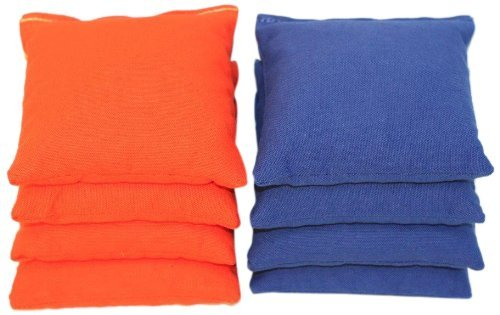 ACA Regulation Cornhole Bags (Set of 8) (Royal and Orange) (Blue And Orange Corn Hole compare prices)