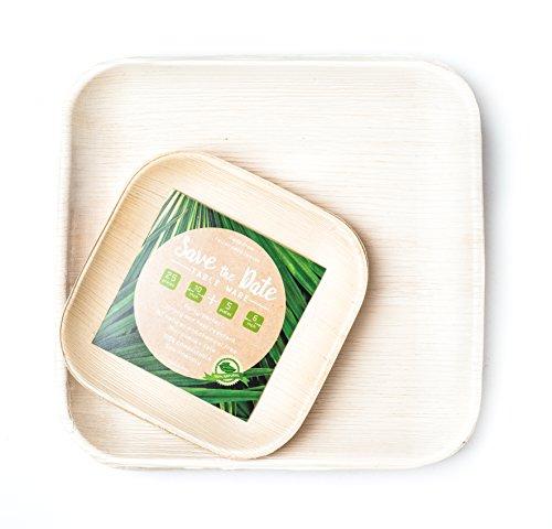 SaveTheDate Palm Leaf Plates Bamboo