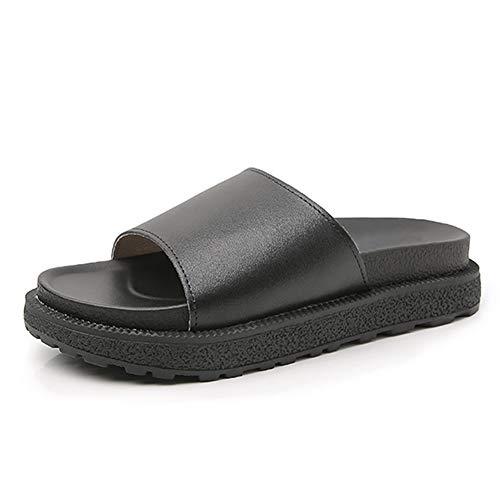 Pantofole Anti Scivolo Nero Stile11 Scarpa Fondo Piatto Scarpe Daytwork All'usura Da Donna Plateau Estive Taglia Sandali Spesso Resistente Grande qxxn4gt