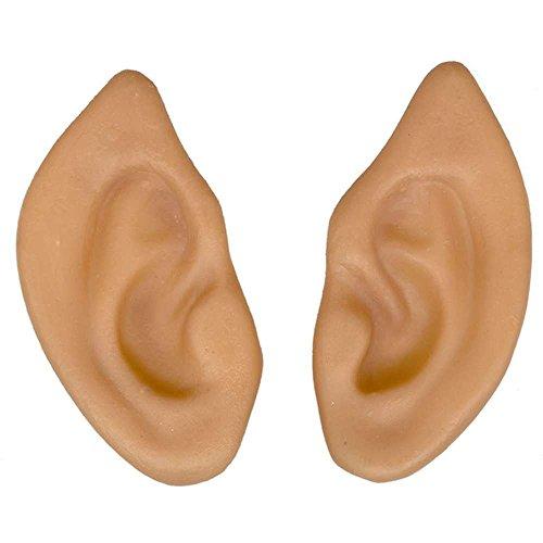 Latex Pointed Elf Fairy Alien Hobbit Ears Cosplay LARP Prosthetic