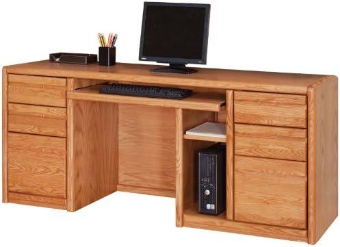 Martin Furniture Contemporary Computer Credenza in Medium Oak