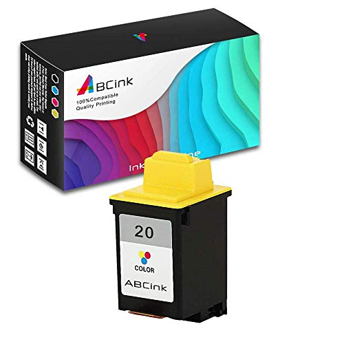 ABCink No.20(15M0120) Ink Cartridges Compatible for Lexmark 3200/5000/5700/5770/7000 Printer,275 Yields(1 Pack,Color)