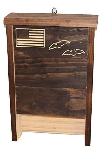 Premium Bat House | Made in USA | Pre-finished Select Pine | Ready to install | Ideal Bat Shelter for most U.S. climates | Environmentally Responsible Eco-Friendly Mosquito Control | Dark Pine