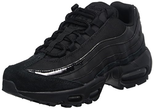 nike womens air max 95 running trainers 307960 sneakers shoes Black/Black-anthracite