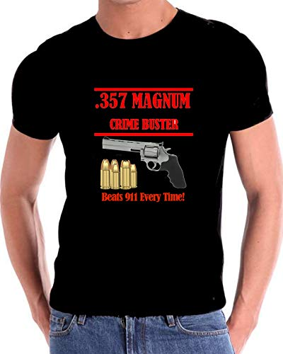 (a 357 Magnum Crime Buster Beat 911 Every Time T Shirt)