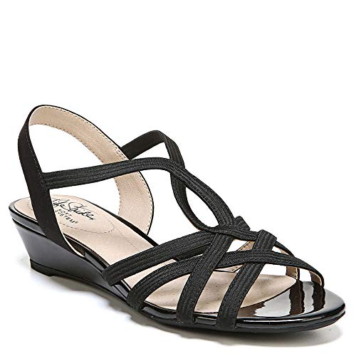 LifeStride Women's, Yaya Wedge Sandals Black 6 M