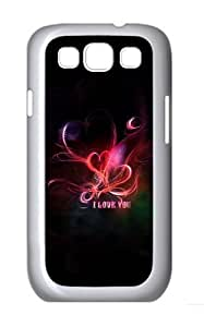 Fiery Heart Custom Hard Back Case Samsung Galaxy S3 SIII I9300 Case Cover - Polycarbonate - White