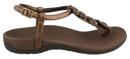 Vionic with Orthaheel Technology Womens Julie II Sandal Bronze Size 10