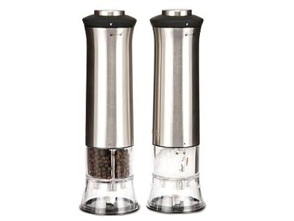 Calentador de agua eléctrico molinillo de sal y pimienta juego de pilas