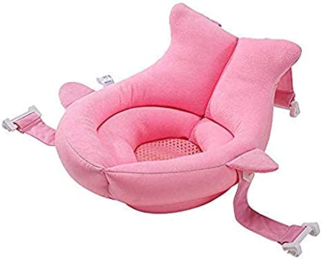 Ballena Baby Bath Support Baby Shower Coj/ín de regalo Ba/ñera Reci/én nacido Baby Nursery Pillow Ballena rosa