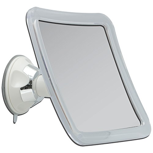 Zadro Z'swivel Power Suction Cup Mirror, White & Chrome