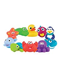 Nuby 10-Pack Little Squirts Fun Bath Toys, Assorted Characters BOBEBE Online Baby Store From New York to Miami and Los Angeles