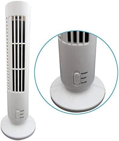 Tower Laptop Fan Mini Portable USB Powered Tower Shape PC Laptop Fan Desktop Cooling Fan Bladeless Notebook Air Conditioner Low Noise