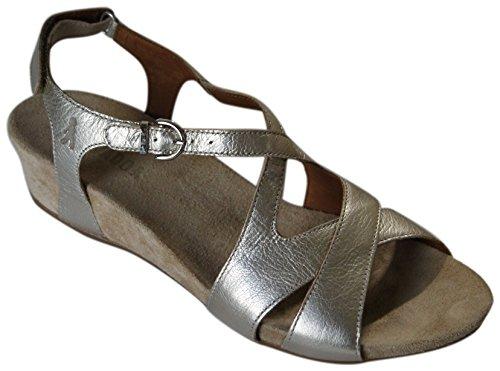 BENVADO - Sandalias de vestir de Piel para mujer Dorado Platino
