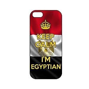 HC-Guarde la calma que soy modelo de la bandera egipcia Egipto plástico duro caso para iPhone 5/5S