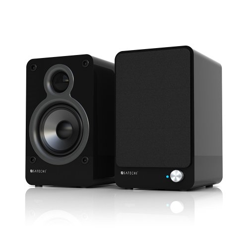 Satechi AirBass Active 20W Bluetooth Speaker System with Subwoofer Output and USB Port (Black) for smartphones, tablets, iPhone 6, 5, 5C, 5S, iPad Mini, Air, Samsung Galaxy S6 Edge, S6, S5, and more 3 Piece Desktop Speaker System