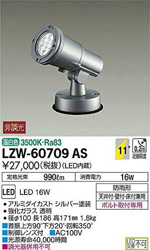 DAIKO LEDアウトドアスポットライト (LED内蔵) 温白色 3500K LZW60709AS   B07K2QPFST