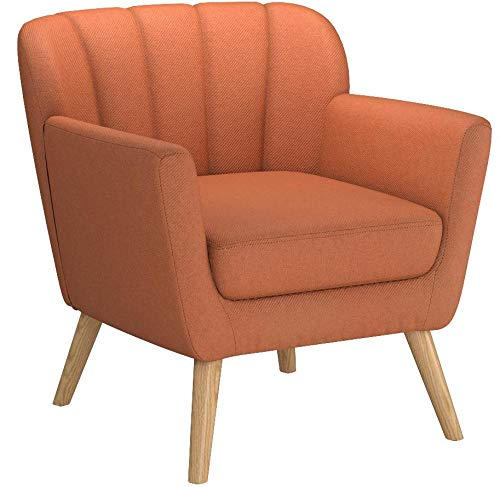 Christopher Knight Home Madelyn Mid Century Modern Fabric Club Chair (Orange) by Christopher Knight Home