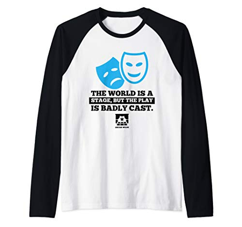 Directors Showcase Cotton - World Is a Stage Theatre Masks Cute Actor Gift Raglan Baseball Tee