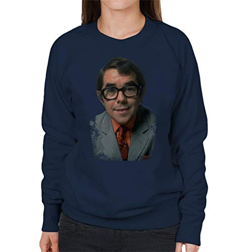 TV Times Comedian Ronnie Corbett Women's Sweatshirt Navy Blue (Best British Comedians Of All Time)