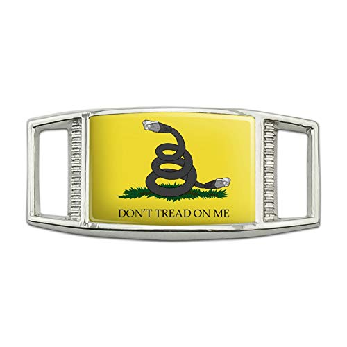 Net Neutrality Don't Tread on Me Rectangular Shoe Shoelace Shoe Lace Tag Runner Gym Charm Decoration