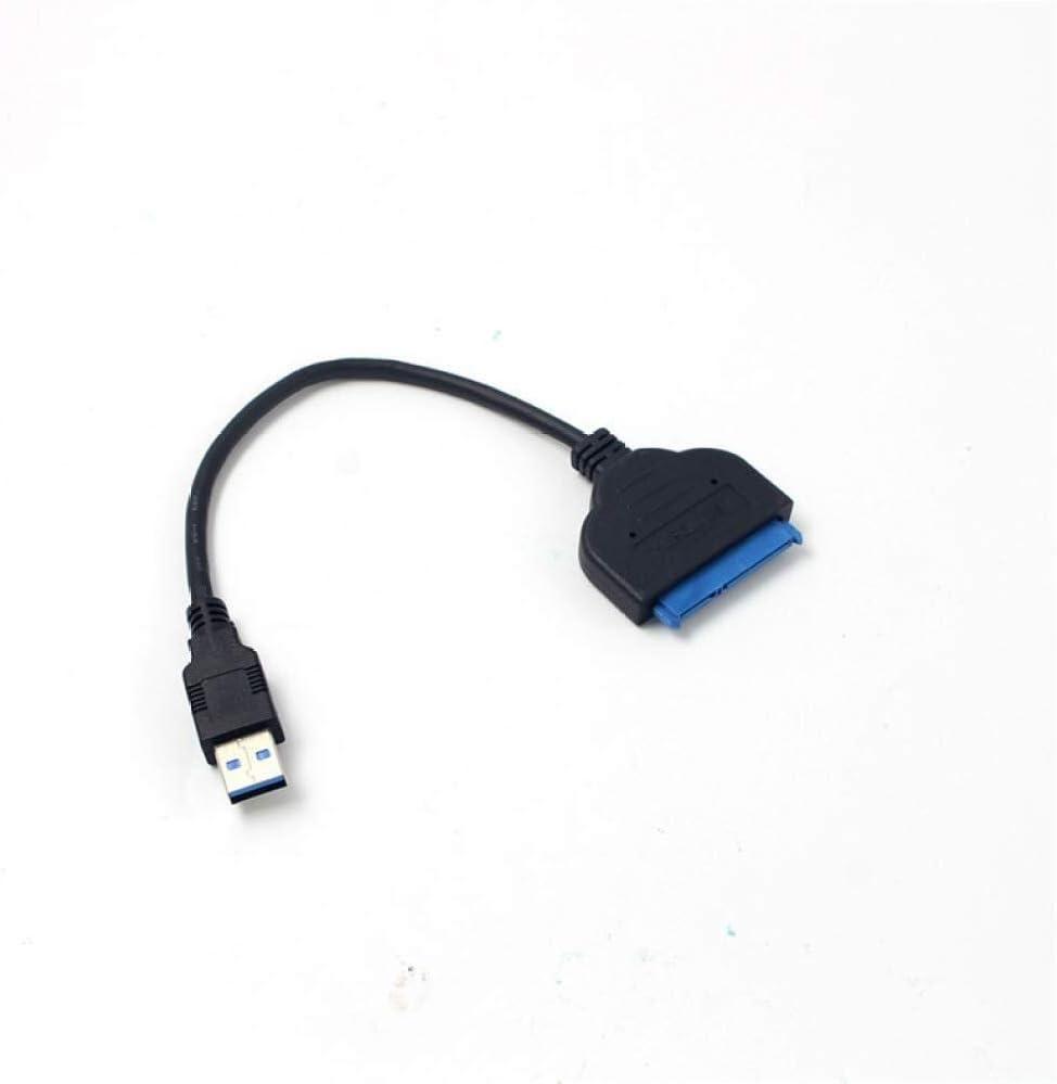Color : Noir C/âble dextension pour ordinateur portable C/âble adaptateur USB3.0 vers SATA 22 broches for disque dur externe SSD HDD 2.5// 3.5 Appliquer