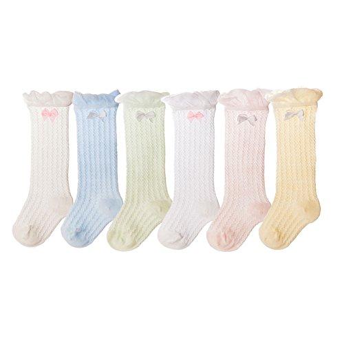 Dance Knee High Socks - Ehdching Kids Baby Infant Toddlers Girl Knee High Breathable Mesh Dance Sock 0-5T (S(0-1 Years))