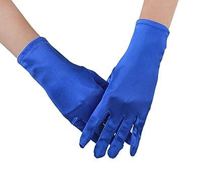JISEN Lady Banquet Party Wedding Bridal Dance Opera Short Satin Colorful Gloves
