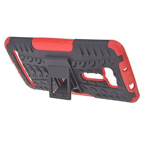 Asus Zenfone 2 Laser ZE601KL (6.0 inches) Funda,COOLKE Duro resistente Choque Heavy Duty Case Hybrid Outdoor Cover case Bumper Para Asus Zenfone 2 Laser ZE601KL (6.0 inches) - Rosa Rojo