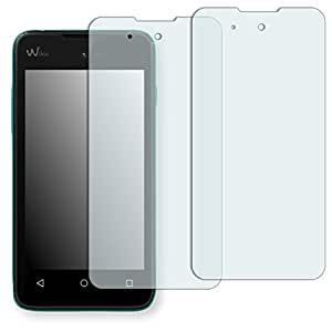 2x Golebo Semi-Matt protectores de pantalla para Wiko Sunny - (efecto antirreflectante, montaje muy fácil, removible sin residuos)