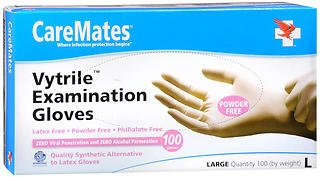 Caremates Vytrile-PF Disposable Medical Exam Gloves Latex + Powder Free Large - 100ct, Pack of 3 by CareMates