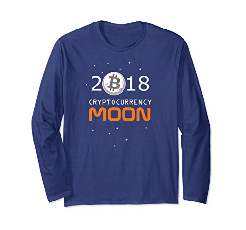 Unisex Cryptocurrency Moon Definition T-Shirt. Blockchain shirt 2XL Navy